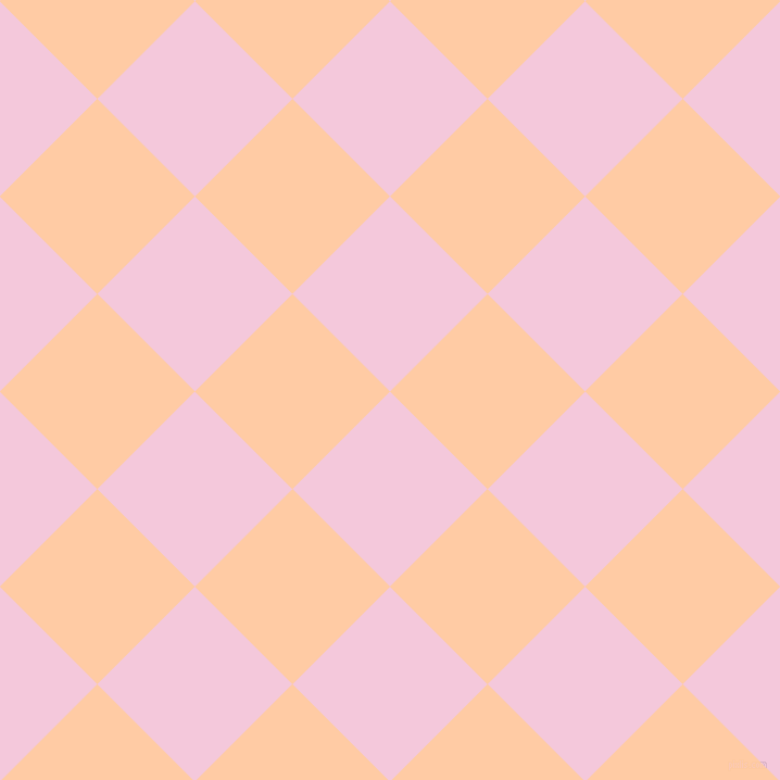45/135 degree angle diagonal checkered chequered squares checker pattern checkers background, 127 pixel square size, Classic Rose and Peach checkers chequered checkered squares seamless tileable