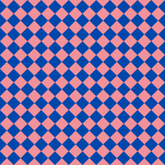 45/135 degree angle diagonal checkered chequered squares checker pattern checkers background, 34 pixel square size, , Cobalt and Wewak checkers chequered checkered squares seamless tileable
