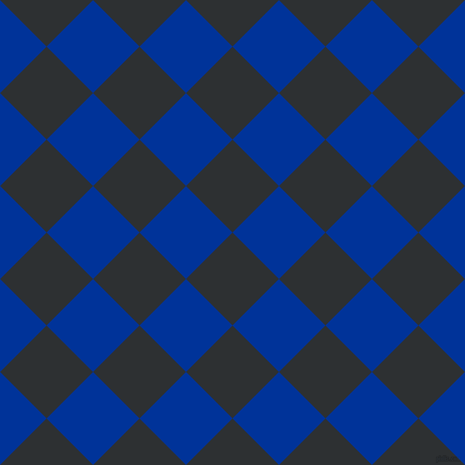 45/135 degree angle diagonal checkered chequered squares checker pattern checkers background, 95 pixel square size, , Cod Grey and Smalt checkers chequered checkered squares seamless tileable