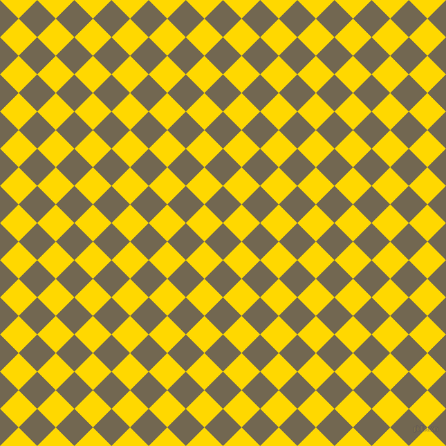 45/135 degree angle diagonal checkered chequered squares checker pattern checkers background, 38 pixel square size, , Coffee and School Bus Yellow checkers chequered checkered squares seamless tileable
