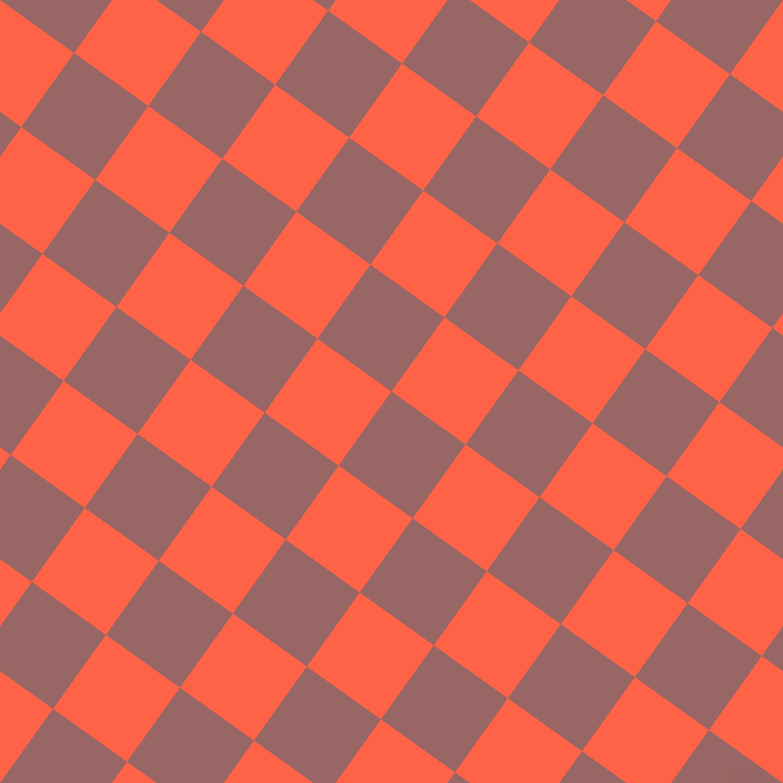 54/144 degree angle diagonal checkered chequered squares checker pattern checkers background, 91 pixel square size, , Copper Rose and Tomato checkers chequered checkered squares seamless tileable