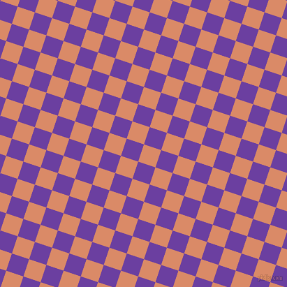 72/162 degree angle diagonal checkered chequered squares checker pattern checkers background, 26 pixel squares size, , Copper and Royal Purple checkers chequered checkered squares seamless tileable