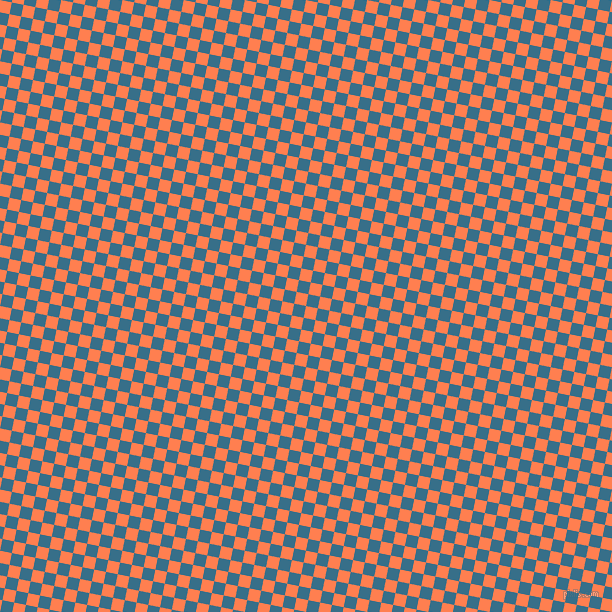 79/169 degree angle diagonal checkered chequered squares checker pattern checkers background, 12 pixel square size, , Coral and Astral checkers chequered checkered squares seamless tileable