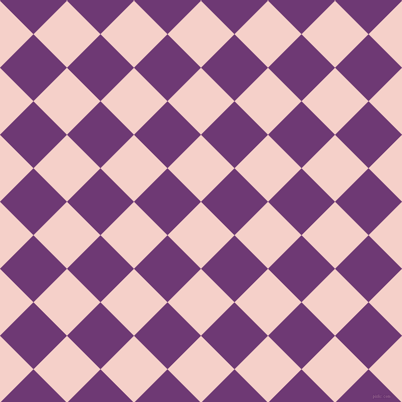 45/135 degree angle diagonal checkered chequered squares checker pattern checkers background, 93 pixel square size, , Coral Candy and Eminence checkers chequered checkered squares seamless tileable