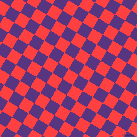 59/149 degree angle diagonal checkered chequered squares checker pattern checkers background, 38 pixel squares size, , Coral Red and Kingfisher Daisy checkers chequered checkered squares seamless tileable