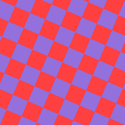 67/157 degree angle diagonal checkered chequered squares checker pattern checkers background, 53 pixel squares size, , Coral Red and Medium Purple checkers chequered checkered squares seamless tileable