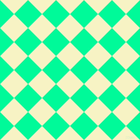 45/135 degree angle diagonal checkered chequered squares checker pattern checkers background, 79 pixel square size, , Corn Field and Medium Spring Green checkers chequered checkered squares seamless tileable