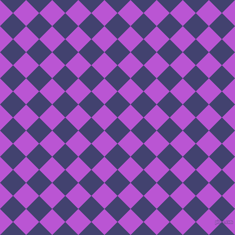 45/135 degree angle diagonal checkered chequered squares checker pattern checkers background, 37 pixel squares size, , Corn Flower Blue and Medium Orchid checkers chequered checkered squares seamless tileable