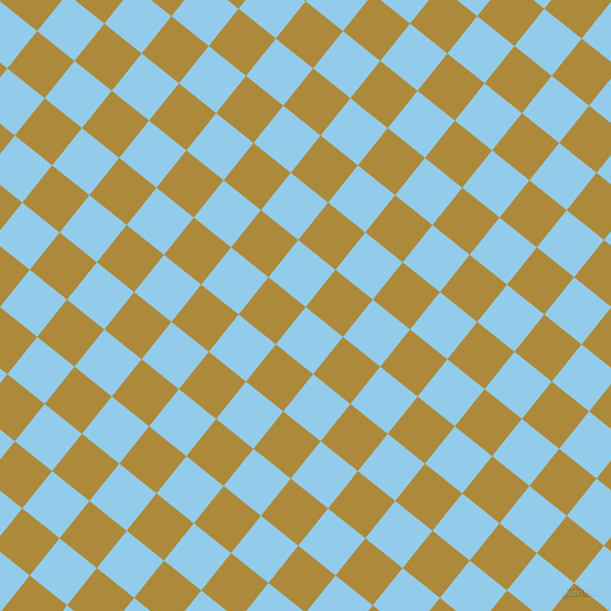 51/141 degree angle diagonal checkered chequered squares checker pattern checkers background, 44 pixel square size, , Cornflower and Alpine checkers chequered checkered squares seamless tileable