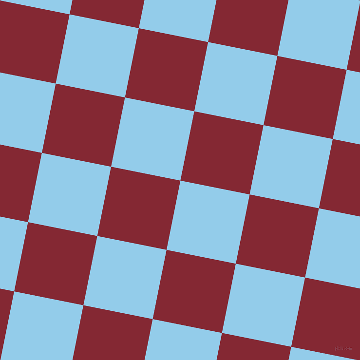 79/169 degree angle diagonal checkered chequered squares checker pattern checkers background, 145 pixel squares size, Cornflower and Shiraz checkers chequered checkered squares seamless tileable