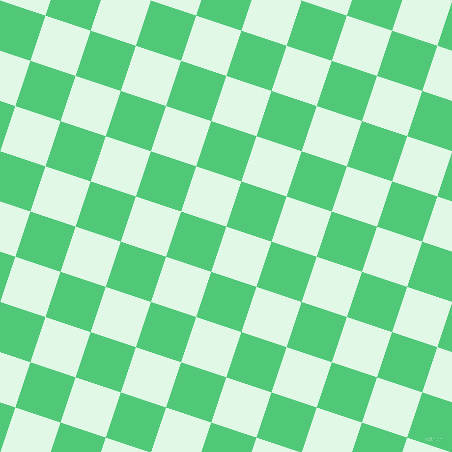 72/162 degree angle diagonal checkered chequered squares checker pattern checkers background, 97 pixel square size, , Cosmic Latte and Emerald checkers chequered checkered squares seamless tileable