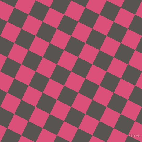 63/153 degree angle diagonal checkered chequered squares checker pattern checkers background, 52 pixel squares size, , Cranberry and Tundora checkers chequered checkered squares seamless tileable