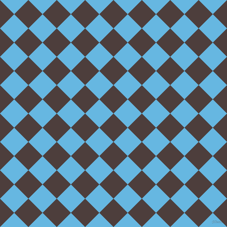 45/135 degree angle diagonal checkered chequered squares checker pattern checkers background, 70 pixel squares size, , Crater Brown and Malibu checkers chequered checkered squares seamless tileable