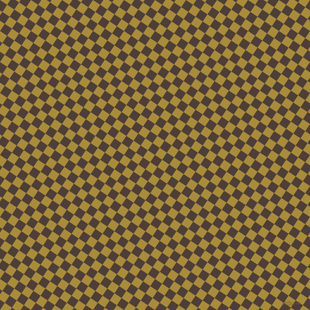 56/146 degree angle diagonal checkered chequered squares checker pattern checkers background, 17 pixel squares size, , Crater Brown and Reef Gold checkers chequered checkered squares seamless tileable