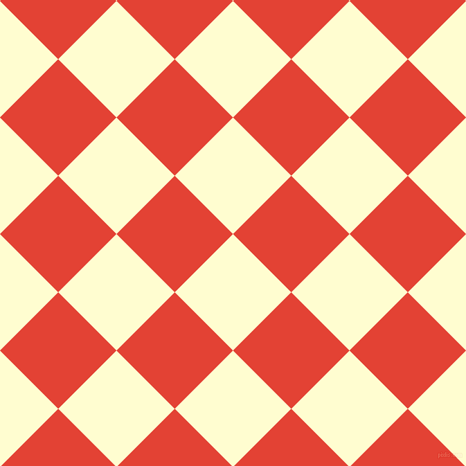 45/135 degree angle diagonal checkered chequered squares checker pattern checkers background, 119 pixel square size, , Cream and Cinnabar checkers chequered checkered squares seamless tileable