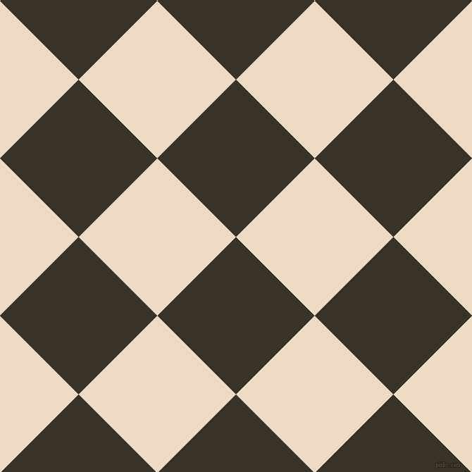 45/135 degree angle diagonal checkered chequered squares checker pattern checkers background, 158 pixel squares size, , Creole and Almond checkers chequered checkered squares seamless tileable