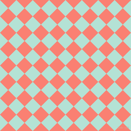 45/135 degree angle diagonal checkered chequered squares checker pattern checkers background, 38 pixel square size, , Cruise and Salmon checkers chequered checkered squares seamless tileable