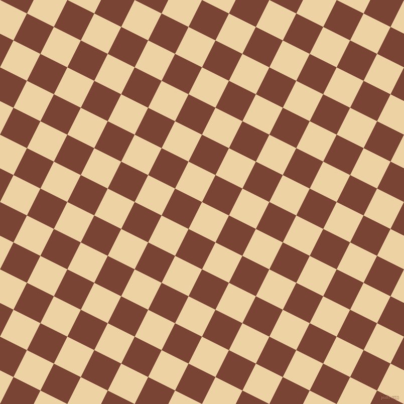 63/153 degree angle diagonal checkered chequered squares checker pattern checkers background, 60 pixel square size, , Dairy Cream and Peanut checkers chequered checkered squares seamless tileable