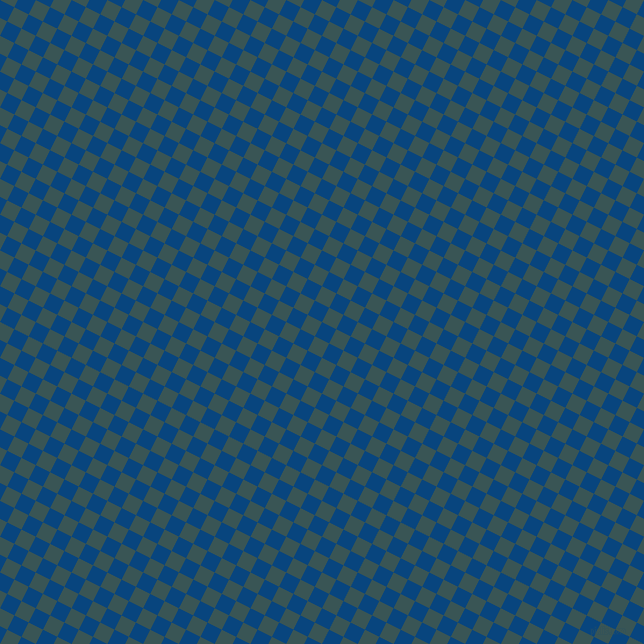 63/153 degree angle diagonal checkered chequered squares checker pattern checkers background, 16 pixel squares size, , Dark Cerulean and Oracle checkers chequered checkered squares seamless tileable