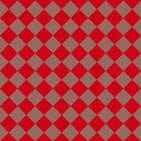 45/135 degree angle diagonal checkered chequered squares checker pattern checkers background, 42 pixel squares size, , Dark Chestnut and Venetian Red checkers chequered checkered squares seamless tileable