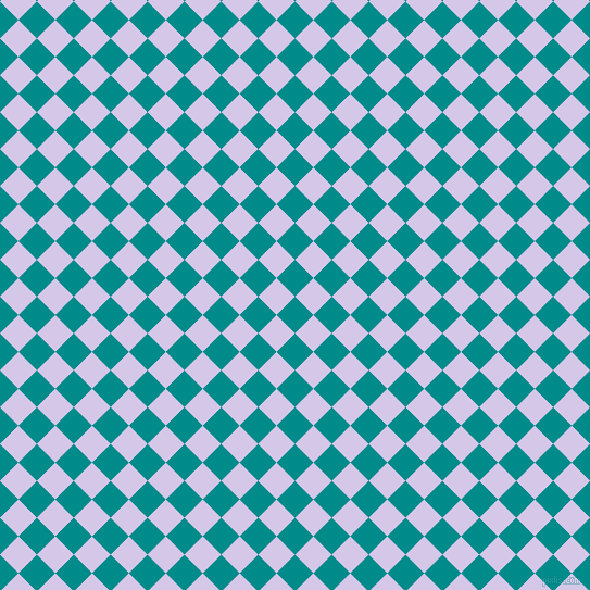 45/135 degree angle diagonal checkered chequered squares checker pattern checkers background, 24 pixel square size, , Dark Cyan and Fog checkers chequered checkered squares seamless tileable