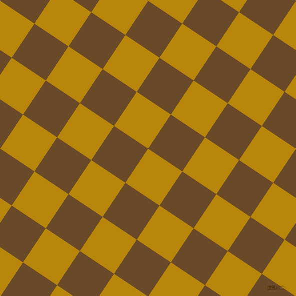 56/146 degree angle diagonal checkered chequered squares checker pattern checkers background, 82 pixel squares size, , Dark Goldenrod and Cafe Royale checkers chequered checkered squares seamless tileable