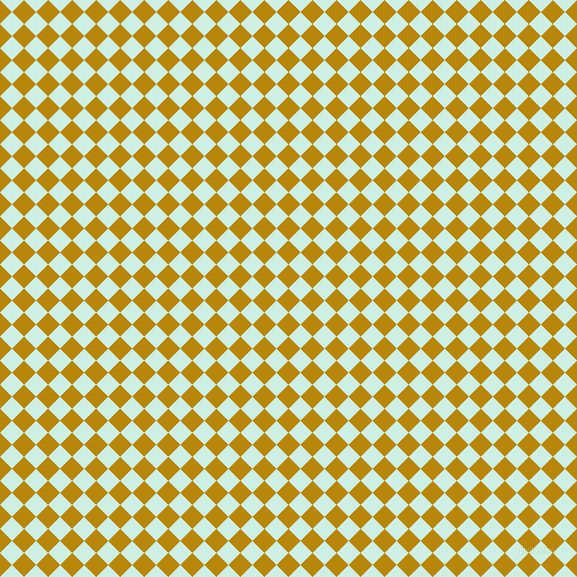 45/135 degree angle diagonal checkered chequered squares checker pattern checkers background, 17 pixel square size, , Dark Goldenrod and Humming Bird checkers chequered checkered squares seamless tileable