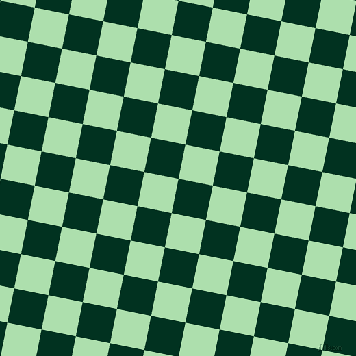 79/169 degree angle diagonal checkered chequered squares checker pattern checkers background, 51 pixel square size, , Dark Green and Moss Green checkers chequered checkered squares seamless tileable