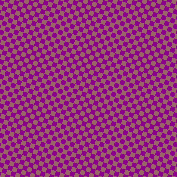 72/162 degree angle diagonal checkered chequered squares checker pattern checkers background, 19 pixel square size, , Dark Magenta and Copper Rose checkers chequered checkered squares seamless tileable