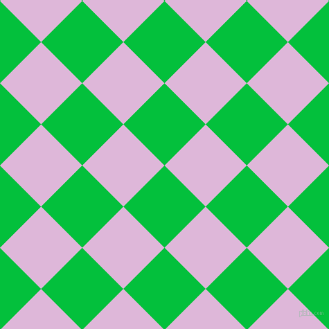 45/135 degree angle diagonal checkered chequered squares checker pattern checkers background, 84 pixel squares size, , Dark Pastel Green and French Lilac checkers chequered checkered squares seamless tileable