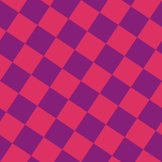 56/146 degree angle diagonal checkered chequered squares checker pattern checkers background, 75 pixel squares size, , Dark Purple and Cerise checkers chequered checkered squares seamless tileable