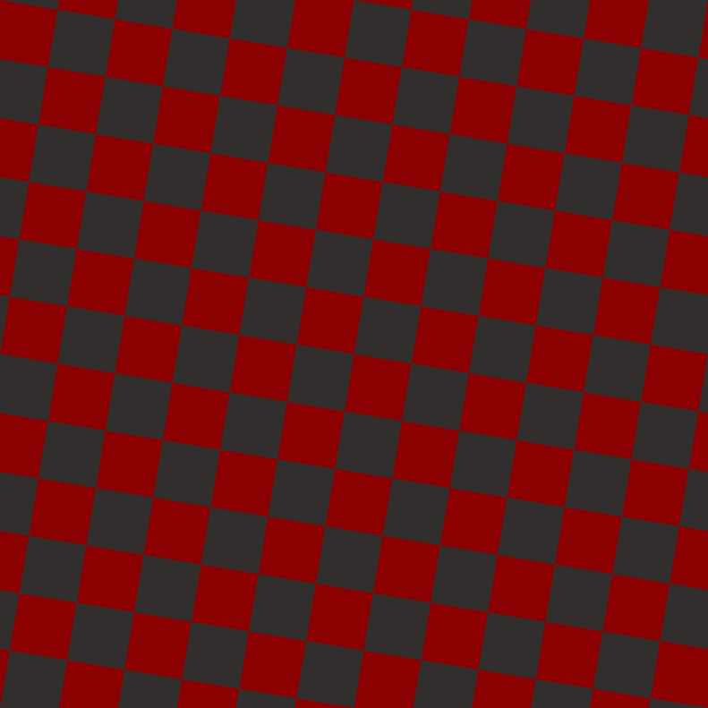 81/171 degree angle diagonal checkered chequered squares checker pattern checkers background, 65 pixel square size, , Dark Red and Night Rider checkers chequered checkered squares seamless tileable