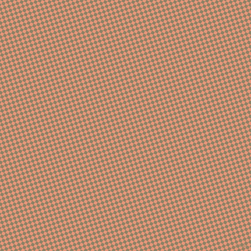 63/153 degree angle diagonal checkered chequered squares checker pattern checkers background, 10 pixel square size, , Dark Salmon and Granite Green checkers chequered checkered squares seamless tileable