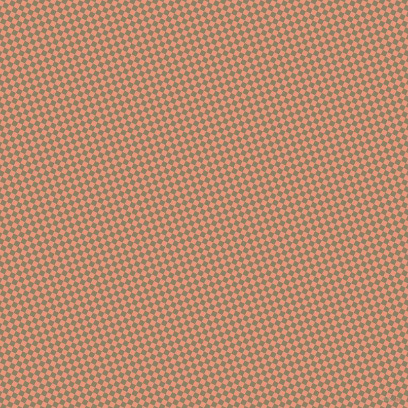 63/153 degree angle diagonal checkered chequered squares checker pattern checkers background, 10 pixel square size, , Dark Salmon and Granite Green checkers chequered checkered squares seamless tileable