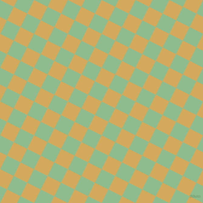 63/153 degree angle diagonal checkered chequered squares checker pattern checkers background, 50 pixel square size, , Dark Sea Green and Apache checkers chequered checkered squares seamless tileable