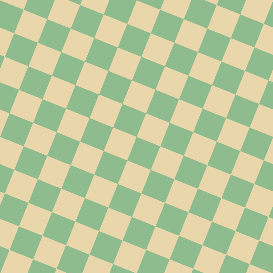 68/158 degree angle diagonal checkered chequered squares checker pattern checkers background, 81 pixel squares size, , Dark Sea Green and Beeswax checkers chequered checkered squares seamless tileable