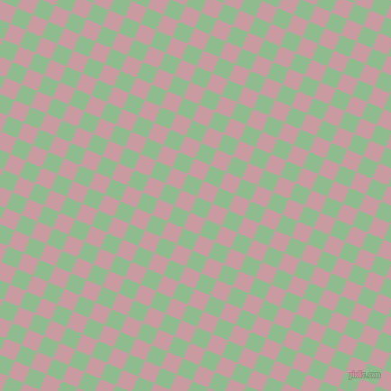 67/157 degree angle diagonal checkered chequered squares checker pattern checkers background, 19 pixel squares size, , Dark Sea Green and Careys Pink checkers chequered checkered squares seamless tileable