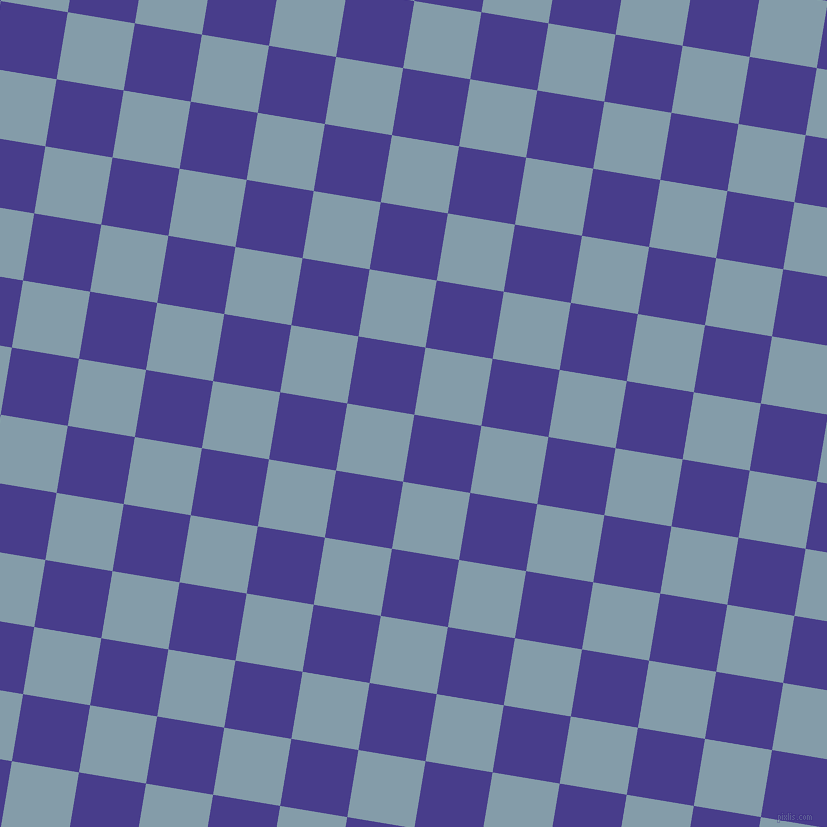 81/171 degree angle diagonal checkered chequered squares checker pattern checkers background, 68 pixel squares size, , Dark Slate Blue and Bali Hai checkers chequered checkered squares seamless tileable