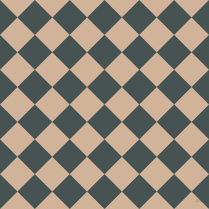 45/135 degree angle diagonal checkered chequered squares checker pattern checkers background, 80 pixel square size, , Dark Slate and Cashmere checkers chequered checkered squares seamless tileable