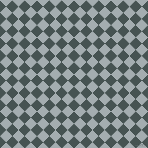 45/135 degree angle diagonal checkered chequered squares checker pattern checkers background, 28 pixel squares size, , Dark Slate and Gull Grey checkers chequered checkered squares seamless tileable