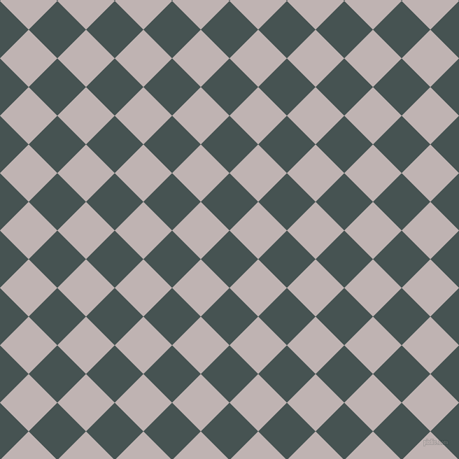 45/135 degree angle diagonal checkered chequered squares checker pattern checkers background, 58 pixel squares size, , Dark Slate and Pink Swan checkers chequered checkered squares seamless tileable
