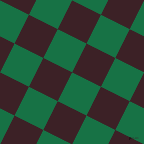 63/153 degree angle diagonal checkered chequered squares checker pattern checkers background, 123 pixel square size, Dark Spring Green and Temptress checkers chequered checkered squares seamless tileable