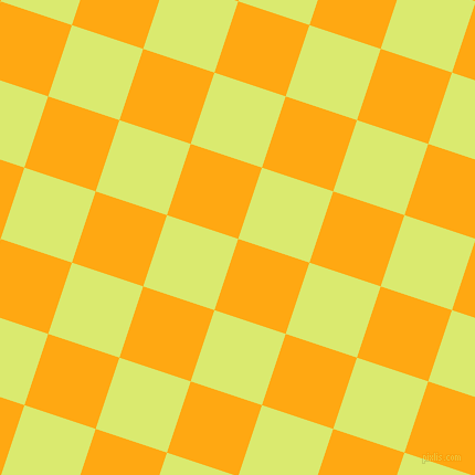 72/162 degree angle diagonal checkered chequered squares checker pattern checkers background, 68 pixel squares size, , Dark Tangerine and Mindaro checkers chequered checkered squares seamless tileable