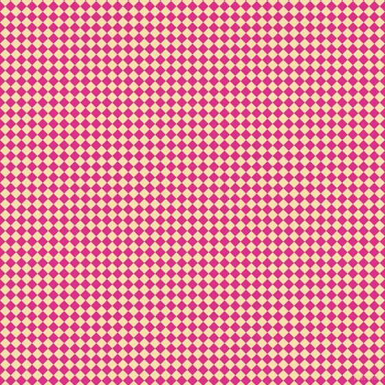45/135 degree angle diagonal checkered chequered squares checker pattern checkers background, 11 pixel squares size, , Deep Cerise and Peach-Yellow checkers chequered checkered squares seamless tileable