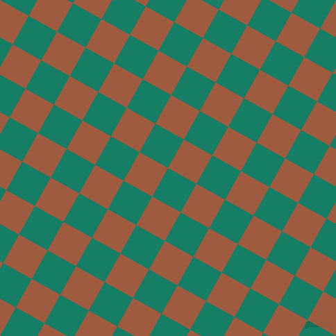 61/151 degree angle diagonal checkered chequered squares checker pattern checkers background, 47 pixel squares size, , Deep Sea and Sepia checkers chequered checkered squares seamless tileable
