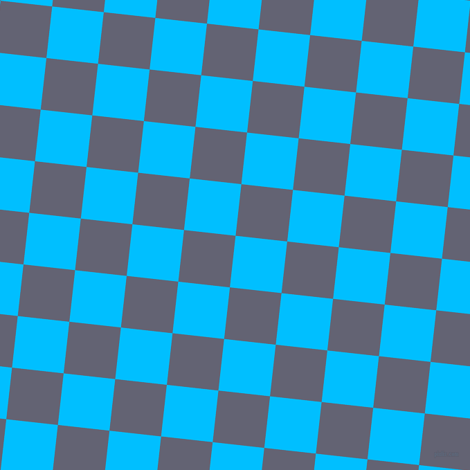 84/174 degree angle diagonal checkered chequered squares checker pattern checkers background, 75 pixel square size, , Deep Sky Blue and Comet checkers chequered checkered squares seamless tileable