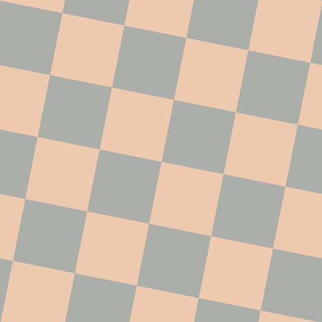 79/169 degree angle diagonal checkered chequered squares checker pattern checkers background, 92 pixel squares size, Desert Sand and Silver Chalice checkers chequered checkered squares seamless tileable