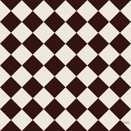 45/135 degree angle diagonal checkered chequered squares checker pattern checkers background, 49 pixel square size, , Desert Storm and Seal Brown checkers chequered checkered squares seamless tileable