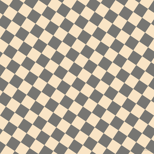 56/146 degree angle diagonal checkered chequered squares checker pattern checkers background, 45 pixel squares size, , Dove Grey and Egg Sour checkers chequered checkered squares seamless tileable