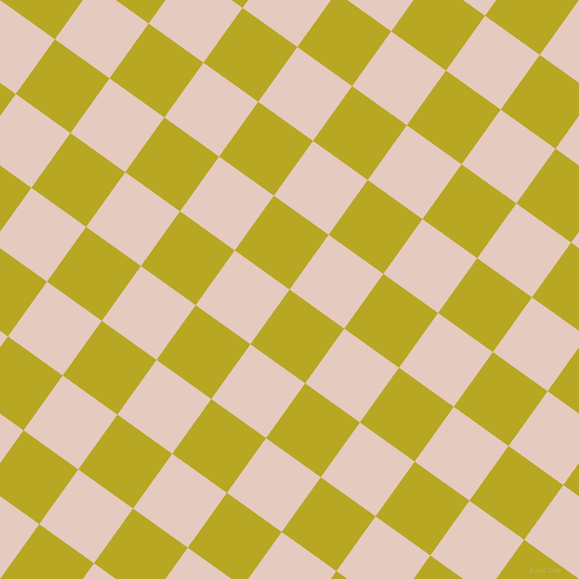 54/144 degree angle diagonal checkered chequered squares checker pattern checkers background, 76 pixel square size, , Earls Green and Dust Storm checkers chequered checkered squares seamless tileable